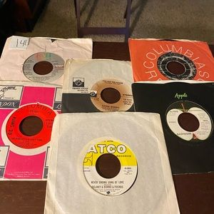 LOT OF 6   45 RPM RECORDS. LOT #14